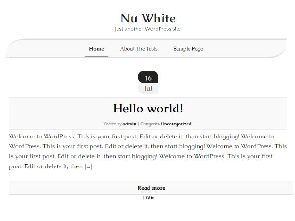 NuWhite WP Theme