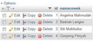 database cewek