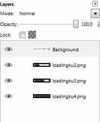 Masukkan gambar ke layer gimp secara urut
