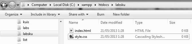 04 Localhost Folder Labsku