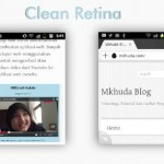 Clean Retina di Browser Android dan Dolphin