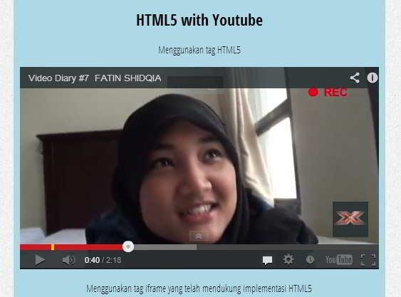 video HTML5 Fathin