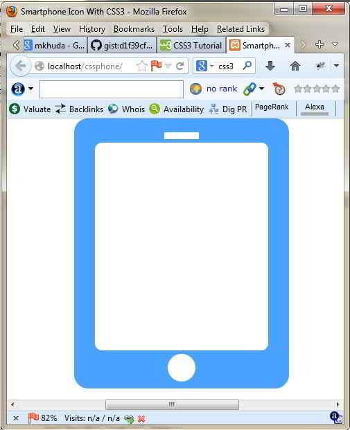 Hasil Akhir Icon Smartphone CSS3