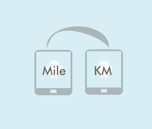 android konversi mil km