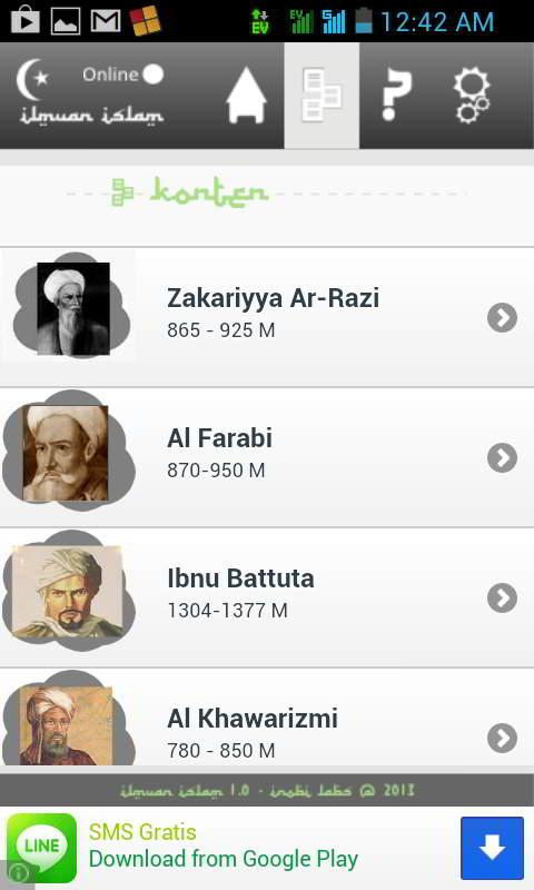 Ilmuwan Islam Android