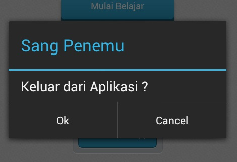 Exit App Notification Pada Aplikasi Phonegap
