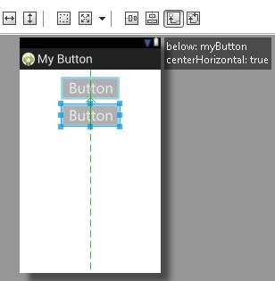 Button Below Objek