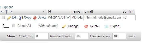 Cek Database PhpMyAdmin