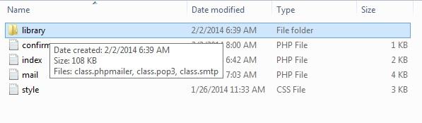 folder library mailer