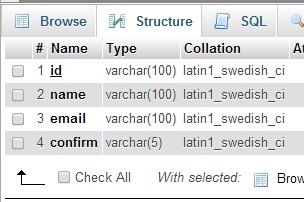 konfigurasi database mailer