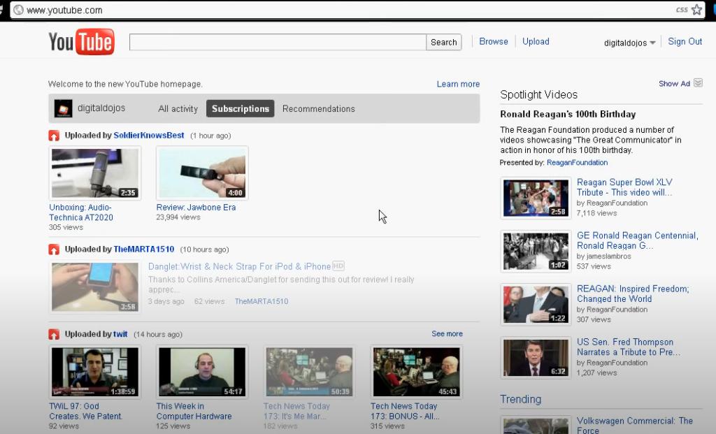 Youtube Tahun 2011